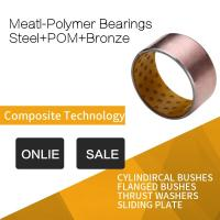 China POM Indents Self Lubricating Plain Bearing Bronze Meatl Polymer Bearings Inch Costom Size wholesale