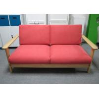 China Colorful Solid Ash Wood 2 persons Seater Sofa Furniture 1550 X 830 X 749 mm on sale