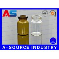 Buy cheap Clear Bottles 10ml Little Glass Vials 24mm width 45mm Tall Usage for BIO Test from wholesalers