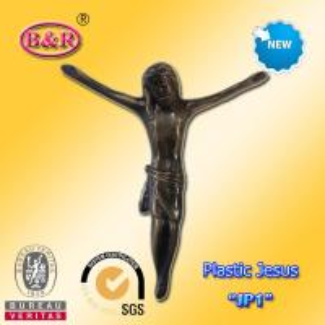 China Пластиковый Иисус для украшения размера 13*15км модели «ДЖП1» креста или распятия похоронного wholesale