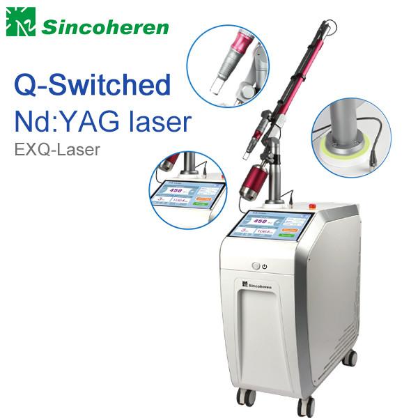 Quality Q comutou a máquina da remoção da tatuagem do laser do Nd YAG, tratamento do laser para a marca de nascença/fungo do prego for sale