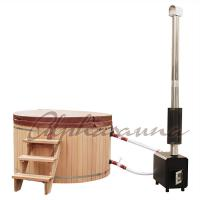 China 2100*900/1000/1200MM Sauna Hot Tub With Burning Stove Garden A Grade clear  Cedar Tub wholesale