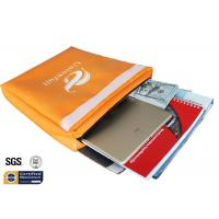 China Non Itchy Fireproof Document Bag 1523 ℉ Envelope Pouch 11x15x2 Orange wholesale