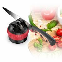 China Mini Two Stage Kitchen Knife Sharpener With Suction Pad Lightweight 58 * 68mm wholesale