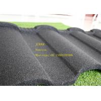 China Aluminum Zinc Stone Coated Metal Roofing Tile In Red Black Green Brown wholesale