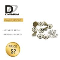 China Fashion Round Denim Jacket Buttons Silver & Brass Rivet For Garments wholesale