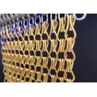China 10mm × 24mm Metal Chain Link Curtains Golden String For Wall Coverings on sale