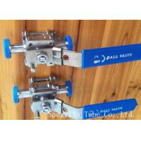 China Dn25 Tp316l Threaded Stainless Steel Ball Valve Sanitary Bpe Valves Easy Operation wholesale