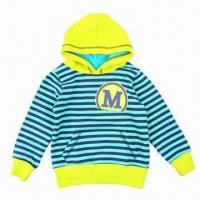 China Children's Jacket, Made of 100% Cotton Knitted, Y/D Jersey, Soft Texture Washed wholesale