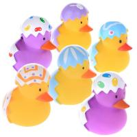 China Broken Egg Colorful Small Christmas Rubber Duck Promotional Gift OEM Pattern wholesale