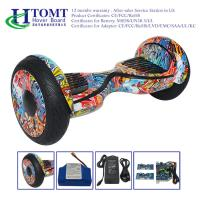 China 10 inch Mobile APP LED light Electric Hoverboard with Bluetooth Speaker , Two Wheels Self Balancing Scooter wholesale