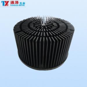 China Aluminum Profile Anodized Heat Sink For LED Lamp In Round Shape wholesale
