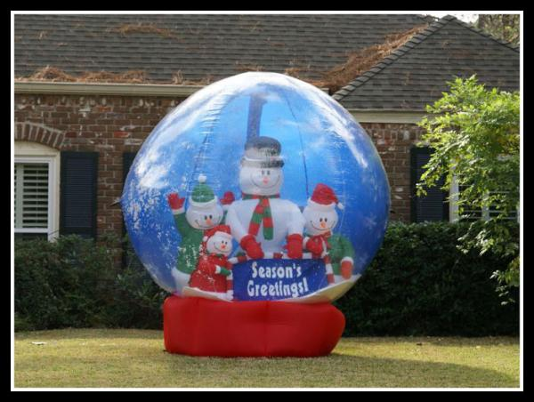 Snow globe kits images for Outdoor christmas globes