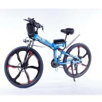 China Carbon Steel Electric Snow Bike , Integrated 26 Inch Folding Electric Bike on sale
