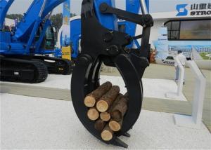 China Hyundai Excavator Mechanical Wood Grapple /  Wood Grab For Excavator wholesale