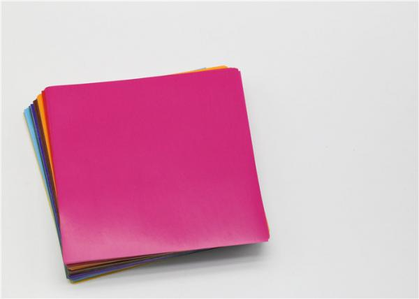 Quality Customized Coloured Gummed Paper Squares Glossy 80GSM For School Craft for sale
