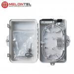 Small Plastic Outdoor Fiber Termination Box Wall Mount Type 4 / 6 Core MT 1215