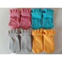 China Pink / Blue / Grey / Orange Comfortable Foot Alignment Toe Separator Socks For Girls wholesale
