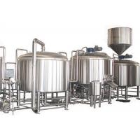 China PLC Control 2000L Large Beer Brewing Equipment Stainless Steel SUS304 Steam Heating wholesale