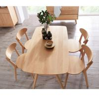 China Natural Color Solid Wood Table Home Furniture Customized Size for Dining Room wholesale