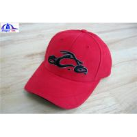 China Cool Custom Racing Baseball Caps , Embroidery Custom Fitted Caps For Youth wholesale