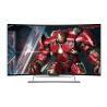 "China Narrow bezel 55 "" Curved LED TV , LG uhd curved tv 3840x2160 Resolution wholesale"