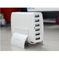 5V 12A 60W 6 Port USB Smart Charger With PowerIA Technology White Shell For iPhone iPadi Galaxy Nexus HTC Nokia