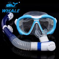 Buy cheap No Leak Diving Mask Set Silicone Strap Double Seal Design For Underwater Sports from wholesalers