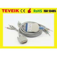 China GE Marquette EKG Cable with Integrated 10 leadwires DIN 3.0 IEC 10K ohm Resistor on sale