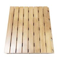 China Sound Absorbing Board Fire Retardant Finished Function Room Wood Grooved Acoustic Panel wholesale