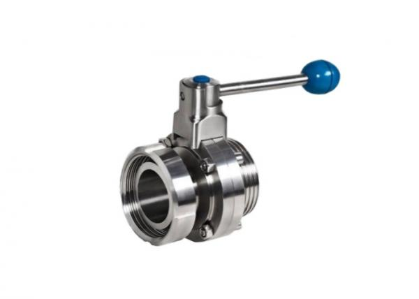 Quality Threaded X Nut Butterfly Stainless Steel Sanitary Valves DIN 304 316L Low Pressure Losing for sale