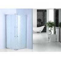 Frost Glass Bathroom Shower Enclosures Square Shower Cabins With Chrome Profile