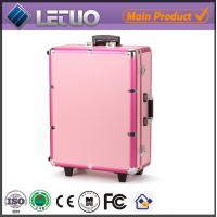 China rolling beauty case cosmetic case makeup case with lights wholesale