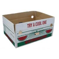 China Custom Vegetables Packing Boxes , Cardboard Fruit Boxes Offset / Flexo Printing wholesale