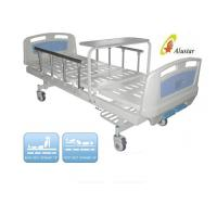 Luxuary Foldable Aluminium Railing Medical Hospital Beds With Overbed Table ( ALS-M217)