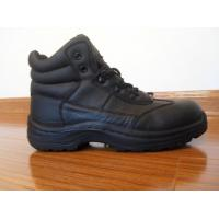 China 7000 pairs top grade Leather+Rubber steel toe working shoes wholesale
