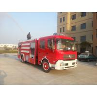 China Red Special Purpose Trucks Fire Fighting Vehicle 500L - 7000L With Excellent Gradeability wholesale