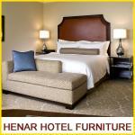 Hampton Inn 5 Star Wooden Hotel Bedroom Furniture King size Brown Upholstered