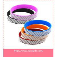silicone bracelet with charm silicone wristband debossed color filled