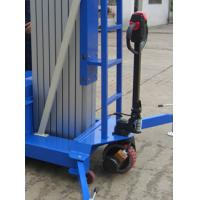 China Electrical Pulling Device Aerial Work Platform Aluminum Type With Lifting Height 14m Quadruple Mast 300Kg wholesale