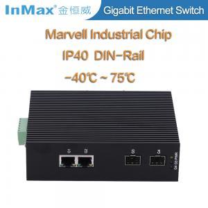 China 4 ports gigabit switch, 2 SFP slots and 2 RJ45 ports 10 /100/1000Mbase Ethernet Switch wholesale