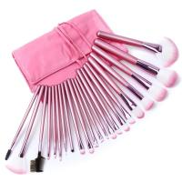 China hot sale make up face brush pink color girl's best love 22pcs full set cosmetics brush wholesale