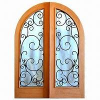 China Wrought iron window grill, used for wood or iron door, hand-forged iron grill, easy-to-assemble wholesale