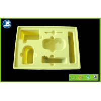 China Hairy Skin Care Yellow Flocking Tray Cosmetics for Beauty Industry wholesale
