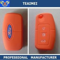 China Personalized Soft Ford Smart Remote Silicone Car Key Cover Orange wholesale