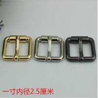 China Bag Parts Accessories Zinc Alloy Shiny Gold 25 MM Roll Pin Belt Buckle For Sales wholesale