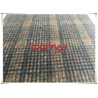 China Light Weight Dark Vintage Plaid Wool Fabric In Stock , Autumn Jackets Wool Blend Fabric 350g/m wholesale