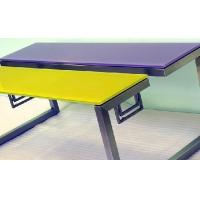 China Color Painted Cover Glass Table Top , Rectagle Glass Table Top wholesale