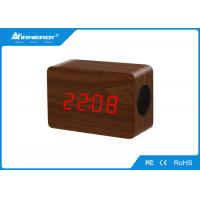 China Wireless Wooden Led Alarm Clock With Temperature Display , 120*50*80mm Size wholesale