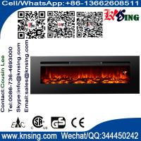 """40""""50""""60""""Insert electric fireplace heater log LED flame effect IF-1340A wall mounted built-in flat front electric stove"""